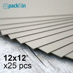 12x12-034-Backing-Boards-25-sheets-700gsm-chipboard-boxboard-cardboard-recycled
