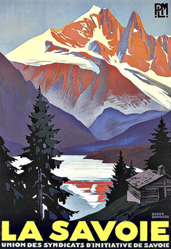 Art Ad La Savoie Travel Deco Poster Print
