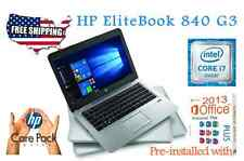 HP Elitebook 840 G3 -CORE I7-6600U- 2.6 GHz -RAM 16GB - 180GB SSD WINDOWS 10 Pro