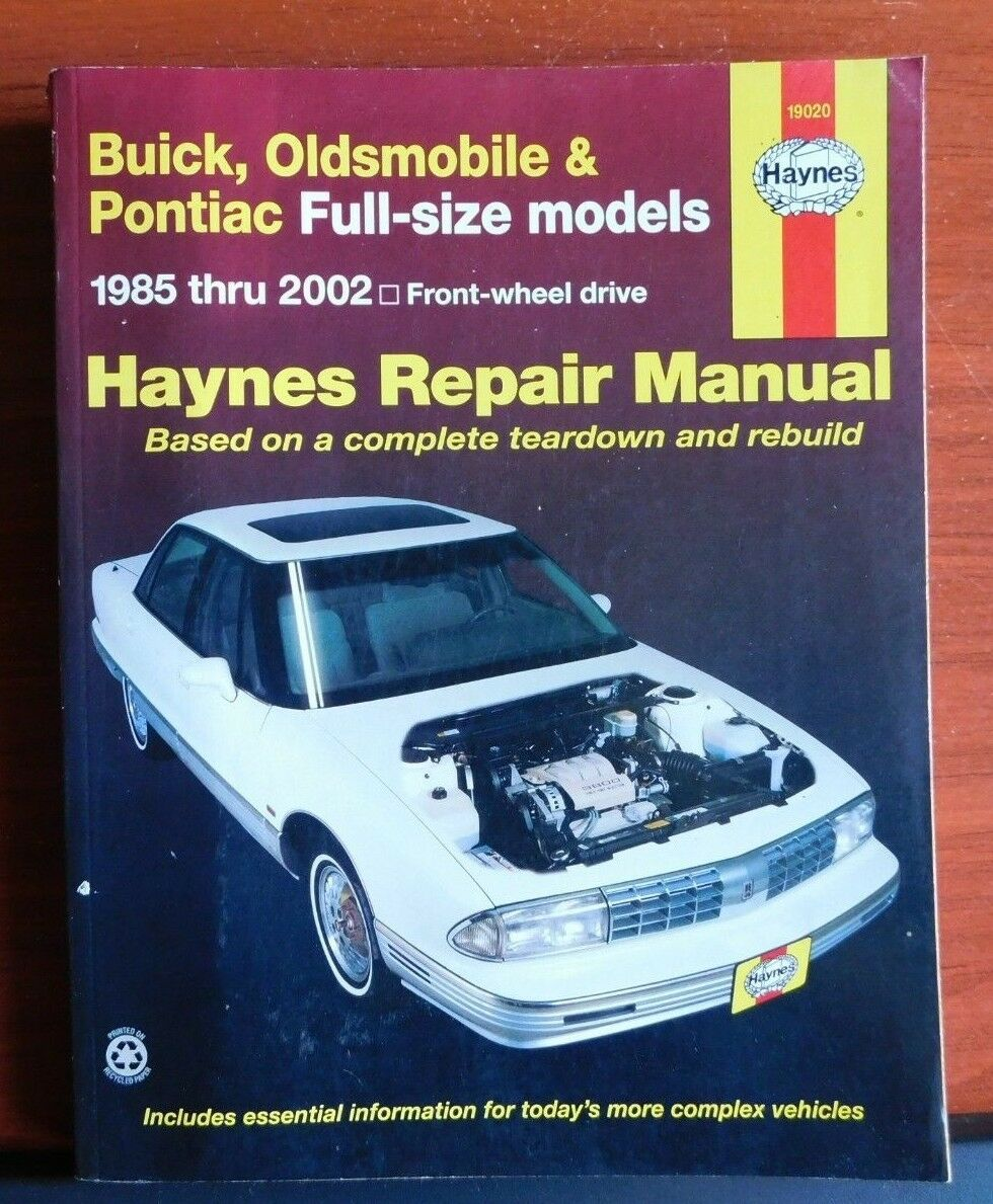 Haynes Manuals: Buick, Oldsmobile and Pontiac Full-Size Models 1985 Thru  2002 : Buick: Lesabre, Electra and Park Avenue, Olds: Delta 88 by Haynes  Automobile ...