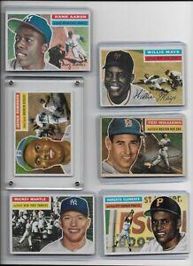 1956 TOPPS BASEBALL COMPLETE SET 340 CARDS HOF ROBINSON MANTLE CLEMENTE EX-5