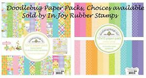 Doodlebug-Simply-Spring-or-Hoppy-Easter-12x12-034-Paper-Value-Bundle-or-Page-Kits