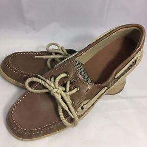 49f9583f224 Dexter Comfort Men s 8.5 Brown   Tan Deck Boat Shoes Casual Oxfords ...