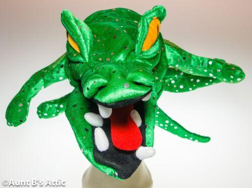 Alligator Crocodile Hat Green Sequin Velour Fun Novelty Costume Hat OS