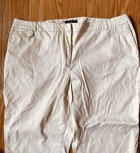 Talbots Woman Heritage Plus Size 20W Khaki Elastic in Back Capri/Crop Pants