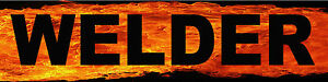 Welder on flaming background, CBM-8