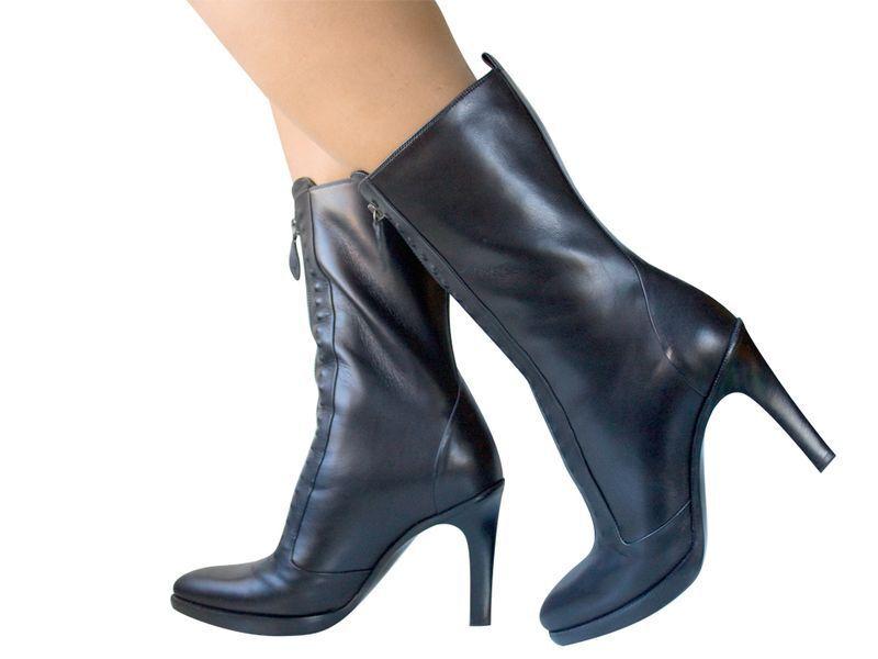 New 1.2K BOTTEGA VENETA schwarz zip front schwarz Stiefel 40.5 10.5