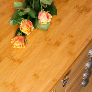 massiv arbeitsplatte karamell bambus 4000mm x 620mm x 40mm bambus tiefe ebay. Black Bedroom Furniture Sets. Home Design Ideas