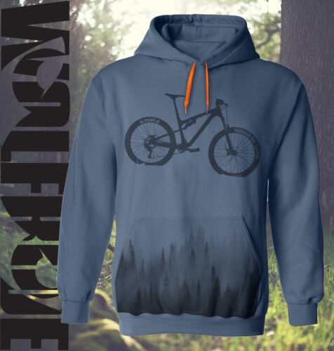 Mountain bike hoodie MTB- hooded top, down hill, bike and forest print hoody