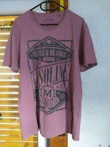 "Herren T Shirt  XL rosa altrosa ""smog company"" Motorcycle"