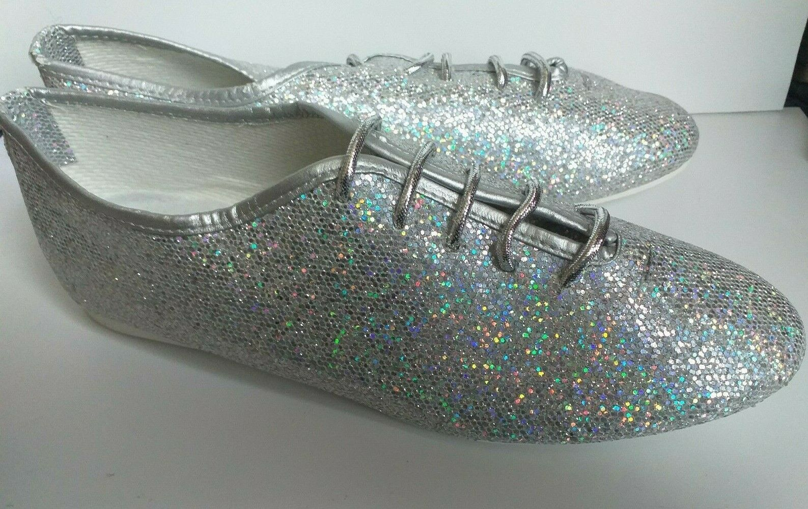 Roch Valley Silver Hologram Jazz Shoes