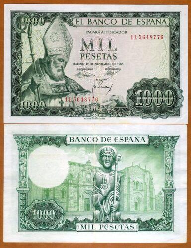P-151 1000 pesetas 1965 Spain XF