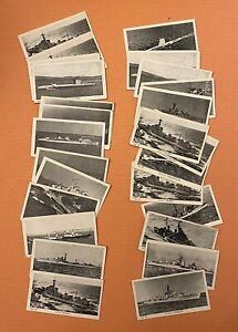 Beano Gum: Ships of the Royal Navy. Lot of 27 (17 different) cards
