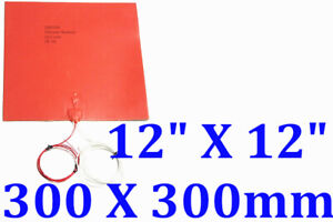 12-034-X-12-034-300-X-300mm-3M-Thermistor-3D-Printer-Heated-Bed-CE-UL-Silicone-Heater