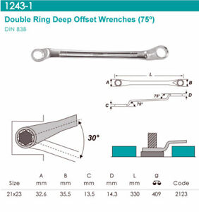 Whirlpower-Double-Ring-Deep-Offset-Wrench-75-12PT-Flank-21x23mm-Automotive