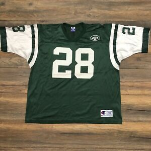 0ebbbd55 Details about Vtg New York Jets #28 Curtis Martin Mens Champion Authentic  NFL Jersey Sz 48 XL