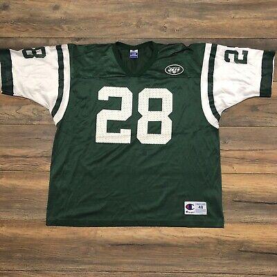 the best attitude 530c1 4c568 Vtg New York Jets #28 Curtis Martin Mens Champion Authentic NFL Jersey Sz  48 XL   eBay