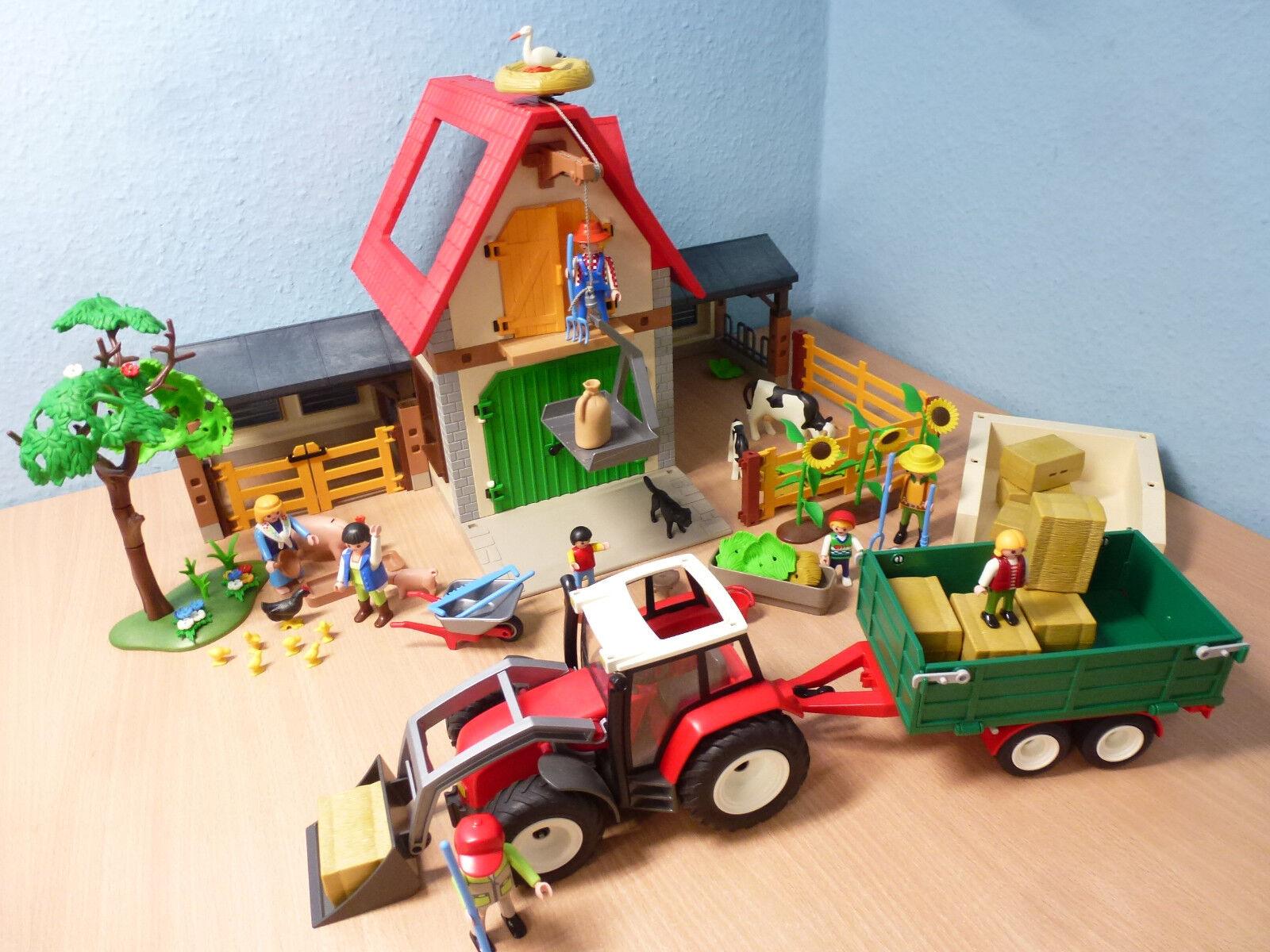 4490 Bauernhof Trecker Hänger Country Tiere Figuren zu 6120 Playmobil 683