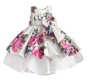 Vestito Bambina Abito Cerimonia Rose Girl Summer Princess Party Dress DGZF028 P