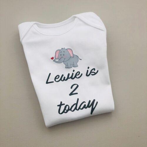Personnalisé Unisexe Bébé Vêtements Gilet éléphant Babygrow Baby Shower cadeau