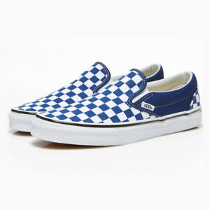 New VANS Mens Checkerboard Slip ON BLUE   WHITE VN0A38F7QCN1 US M 7 ... 8828bdc4d