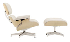 AUTHENTIC Eames Lounge & Ottoman TALL - Ash/Pearl - Herman Miller DWR