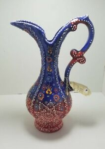 Handmade-Turkish-Traditional-Ceramic-Pottery-Candy-Vase-Big-Jug-Water-Juice-Art