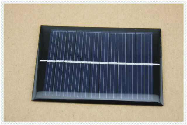 5 PCS 6V 100mA 0.6W Polycrystalline Mini Epoxy Solar Panel Photovoltaic Panel