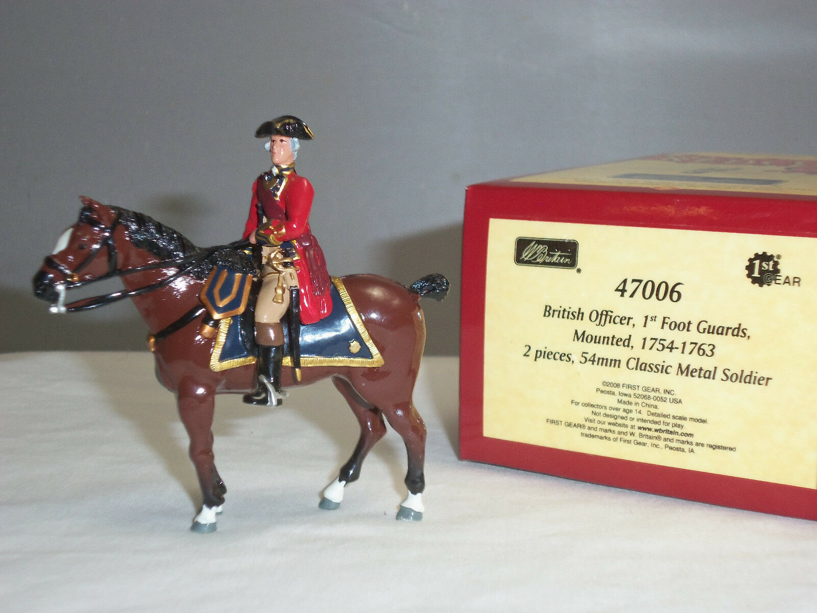 BRITAINS 47006 REDCOATS BRITISH 1ST FOOT GUARDS OFFICER MOUNTED 1754-63 SOLDIER
