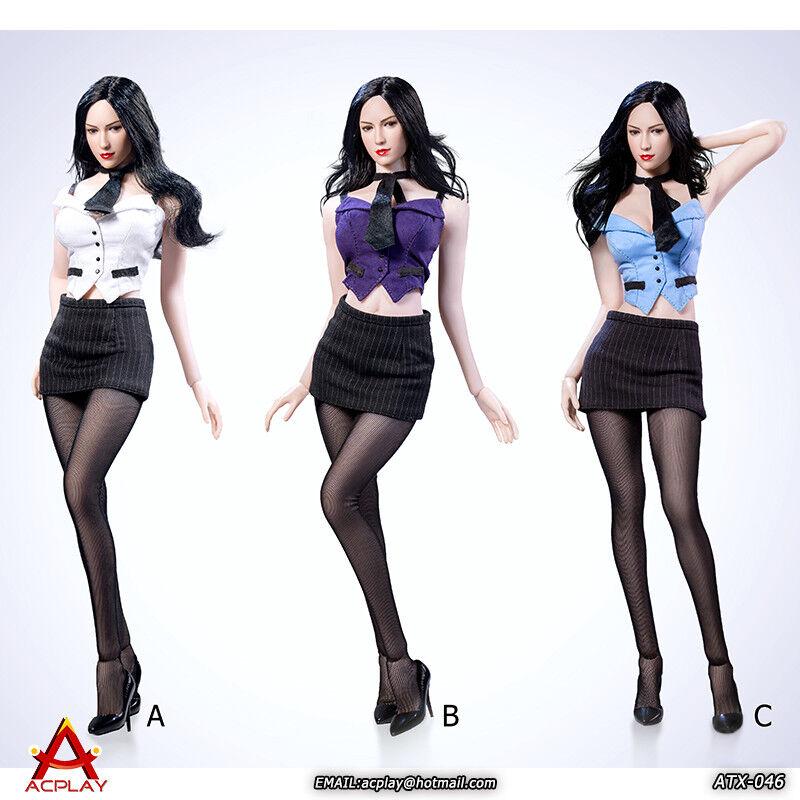 ACPLAY 1 6 ATX046 Sexy Female Secretary Clothing Set Fit 12'' Figure