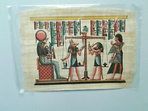 HAND PAINTED EGYPTIAN ART ON PAPYRUS Egypt Ra Sun God Helios Queen FREE SHIPPING