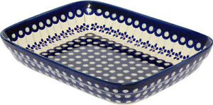 "Polish Pottery Baking Dish 8""x10"" from Zaklady Boleslawiec GU370/166a"