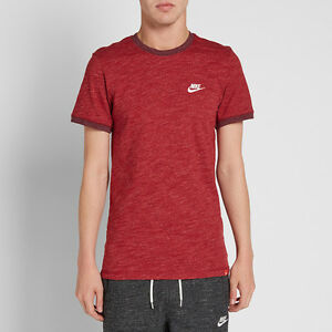 Red Nike Legacy Knit Heather Tee TT1qr
