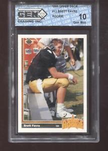 Brett Favre RC 1991 Upper Deck #13 Packers Rookie HOF GEM MINT 10