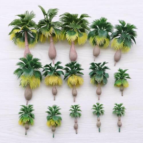 15pcs Model Train Palm Trees Tropical Forest Landscape Scale N Z 1:100-1:300