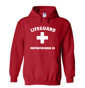 Red-Huntington-Beach-Lifeguard-Hoodie-Surf-City-Pull-Over-Hooded-Sweatshirt