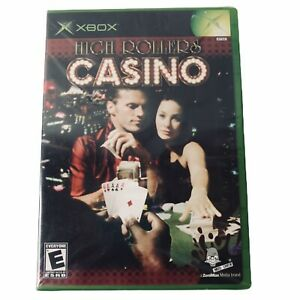XBOX-High-Rollers-Casino-Microsoft-ZeniMax-Media-Disc-Manual-Unopen-New-Rated-E