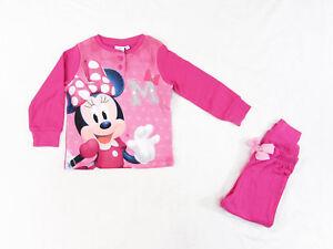 super popolare bffb0 92a53 Dettagli su pigiama bambina DISNEY MINNIE MOUSE in caldo cotone, 3/8 anni -  7325