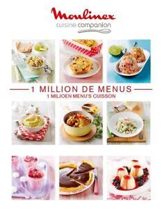 Livre 1 Million De Menus MOULINEX Cuisine Companion PDF FR ENVOI RAPIDE