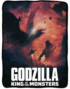 Godzilla-King-of-the-Monsters-45-034-x-60-034-Flannel-Fleece-Blanket