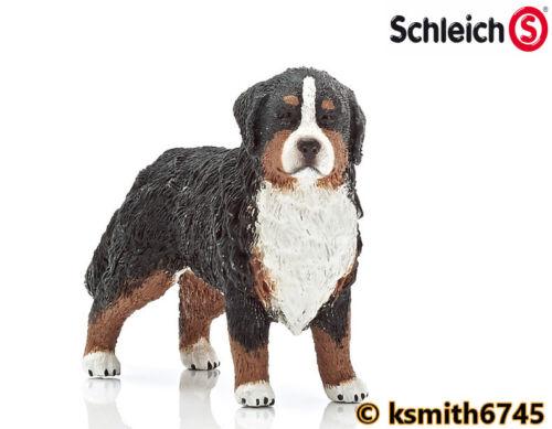 Schleich Bernese Mountain Dog plástico sólido Juguete Animal De Granja Mascota hembra Nuevo *