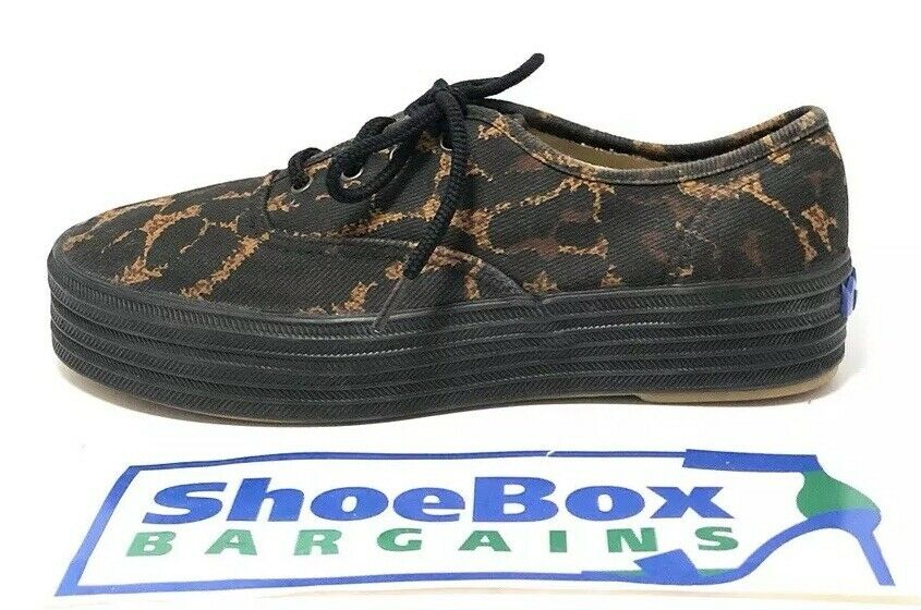 Todd Oldham For Keds Women's Platform Leopard Print Sneakers Size 6.5