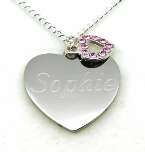 ENGRAVED Jewellery Women Girls Necklace Pendant PERSONALISED Christmas Gifts