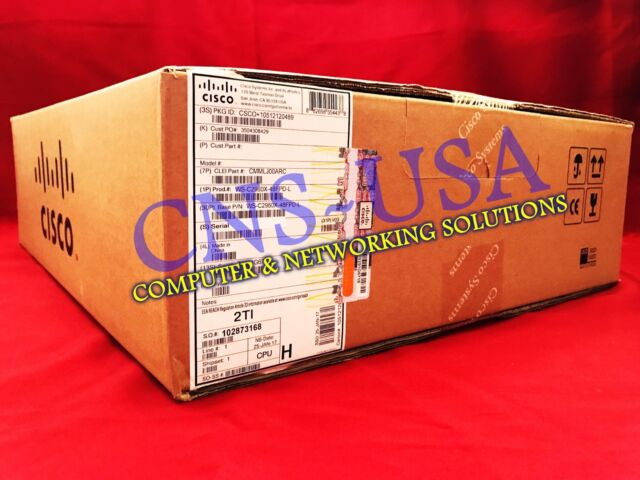 NEW Cisco WS-C2960X-48FPD-L Catalyst 2960-X 48 GigE PoE 740W 2x10G SFP+ LAN BASE
