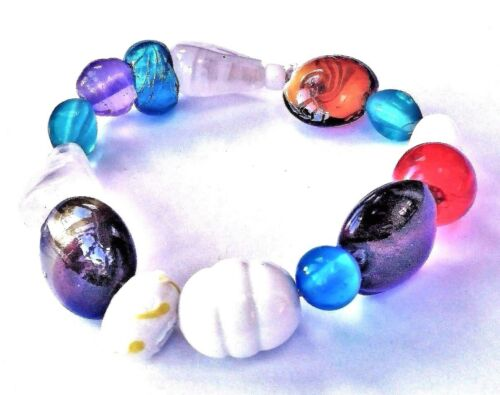 Compre 2 lleve 1 Gratis-único Grueso Gem Pulseras De Cristal De Murano-Varios Diseños