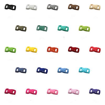 gebogen für Paracord 10mm Steckschnalle Klickschnallle Klickverschluss Buckles