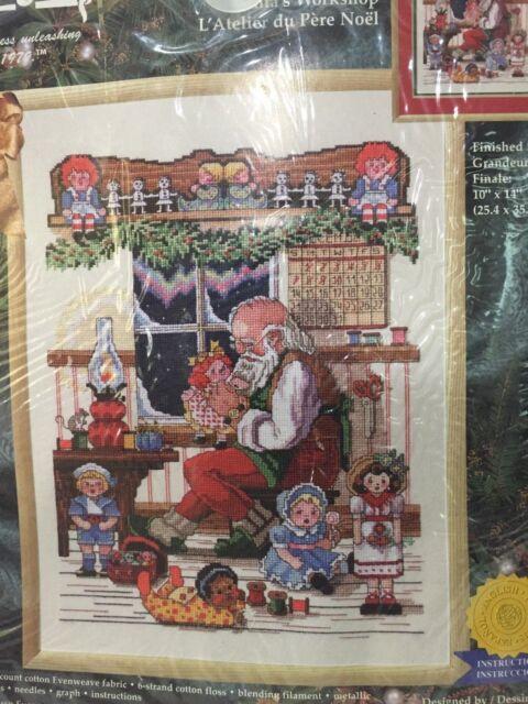 Santa S Workshop Counted Cross Stitch Kit From Janlynn Ebay