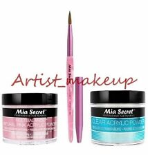 Mia Secret Acrylic Nail Powder Clear + Multibalance 2 oz + Kolinsky Brush # 3D