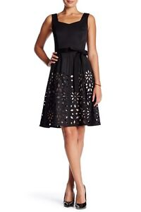 30136c732c Nue By Shani Laser Cut Sweetheart Bengaline Fit   Flare 8 Black ...