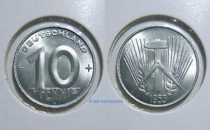 DDR-10-Pfennig-1952A-1953E-Jahr-und-Erhaltung-zur-Auswahl
